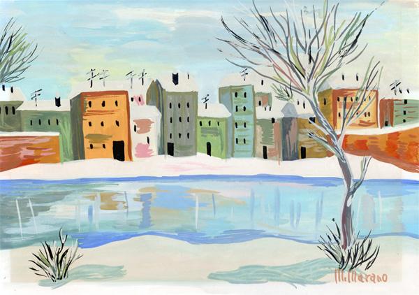 Paesaggio invernale mille e una coda for Disegni paesaggio invernale